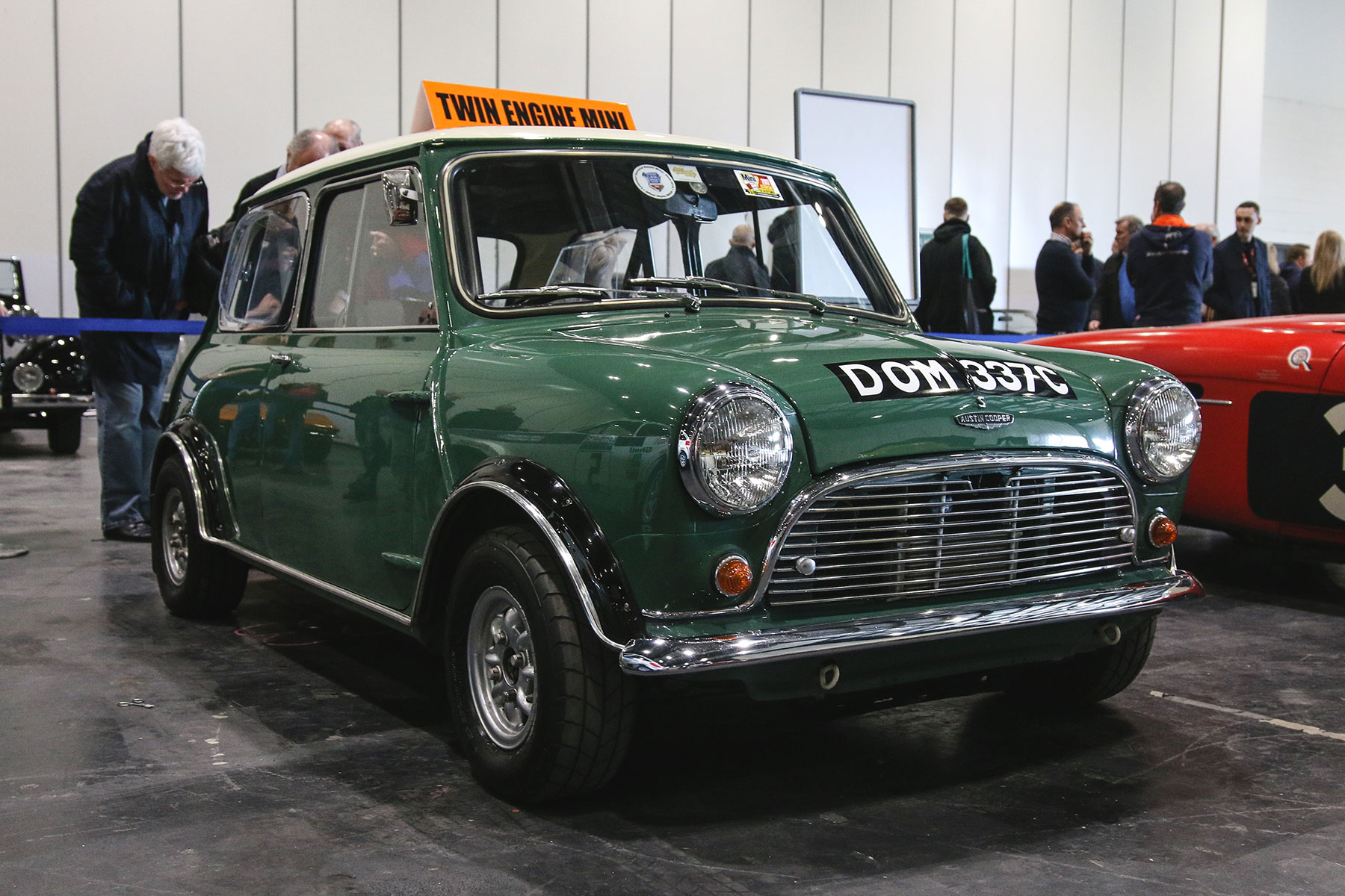 This twin-engined Mini is an early example of a 4x4 rally car ...