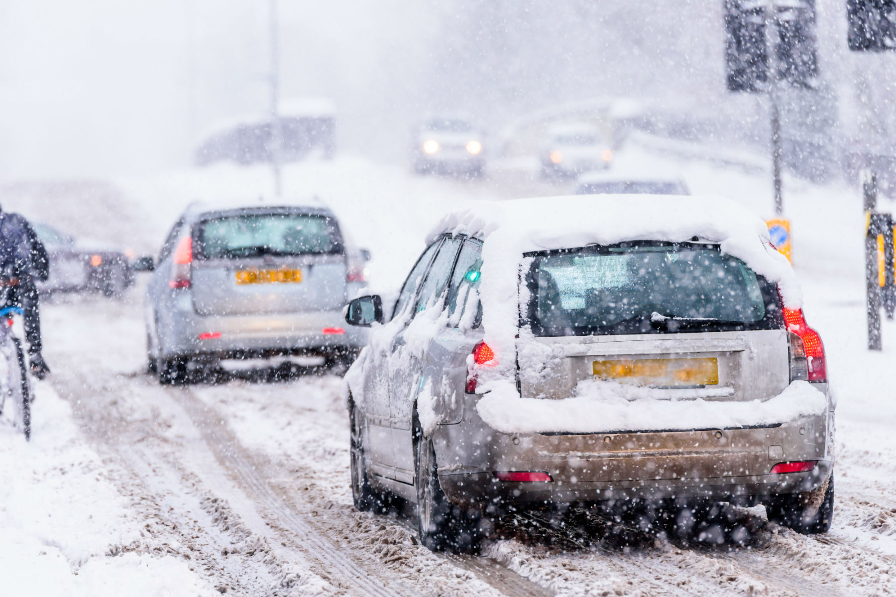 Here's what to do if your car gets stuck in the snow