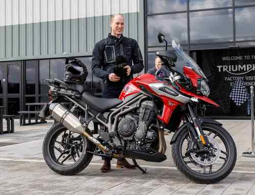 Prince William saddles up at Triumph Motorcycles