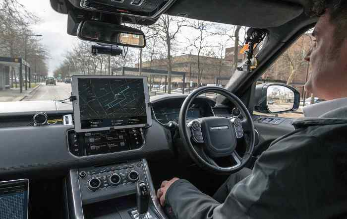 Self-driving Jaguar Land Rovers in Milton Keynes