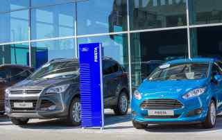 Ford is opening a showroom is a Next clothing store