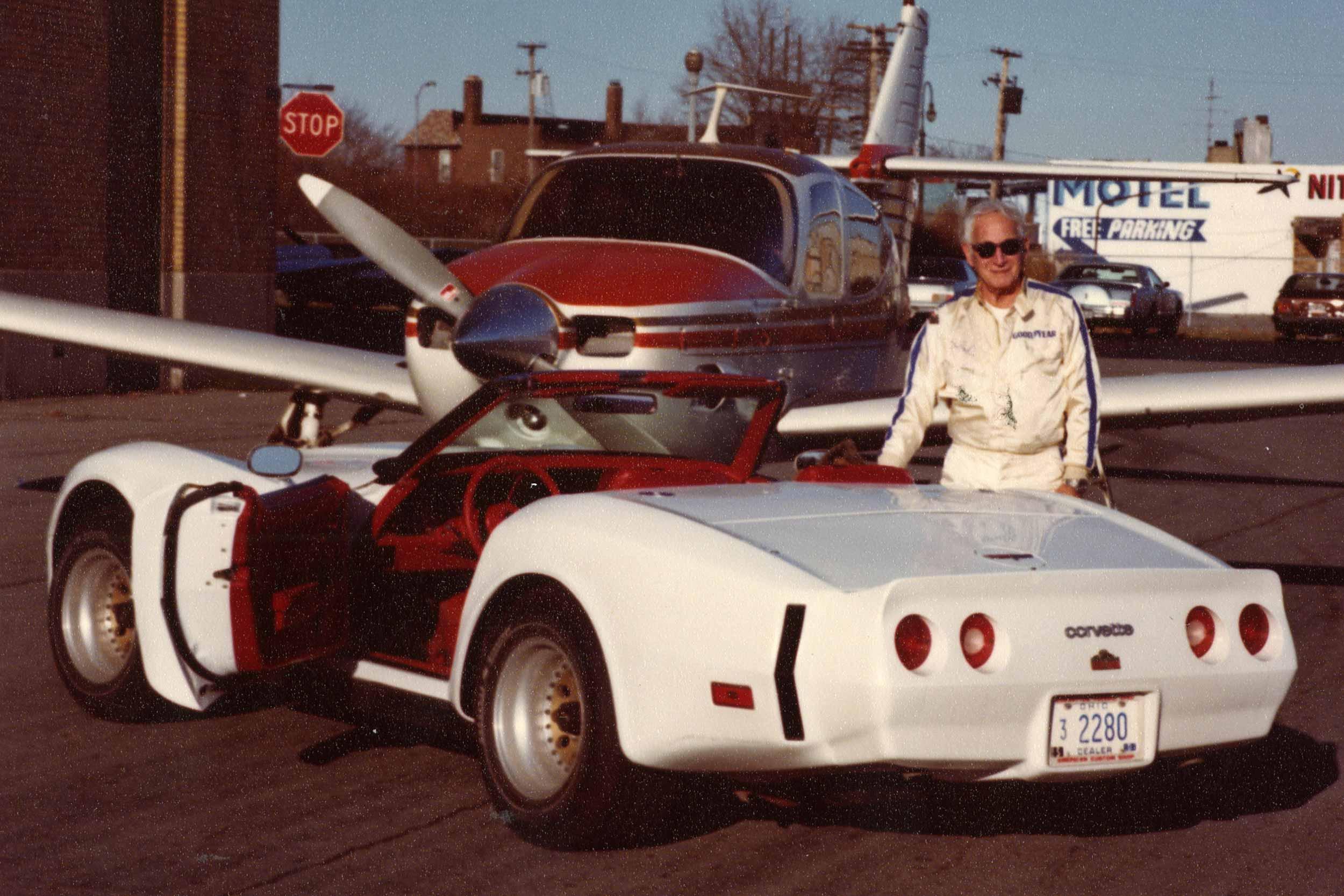 Duntov with Turbo Corvette