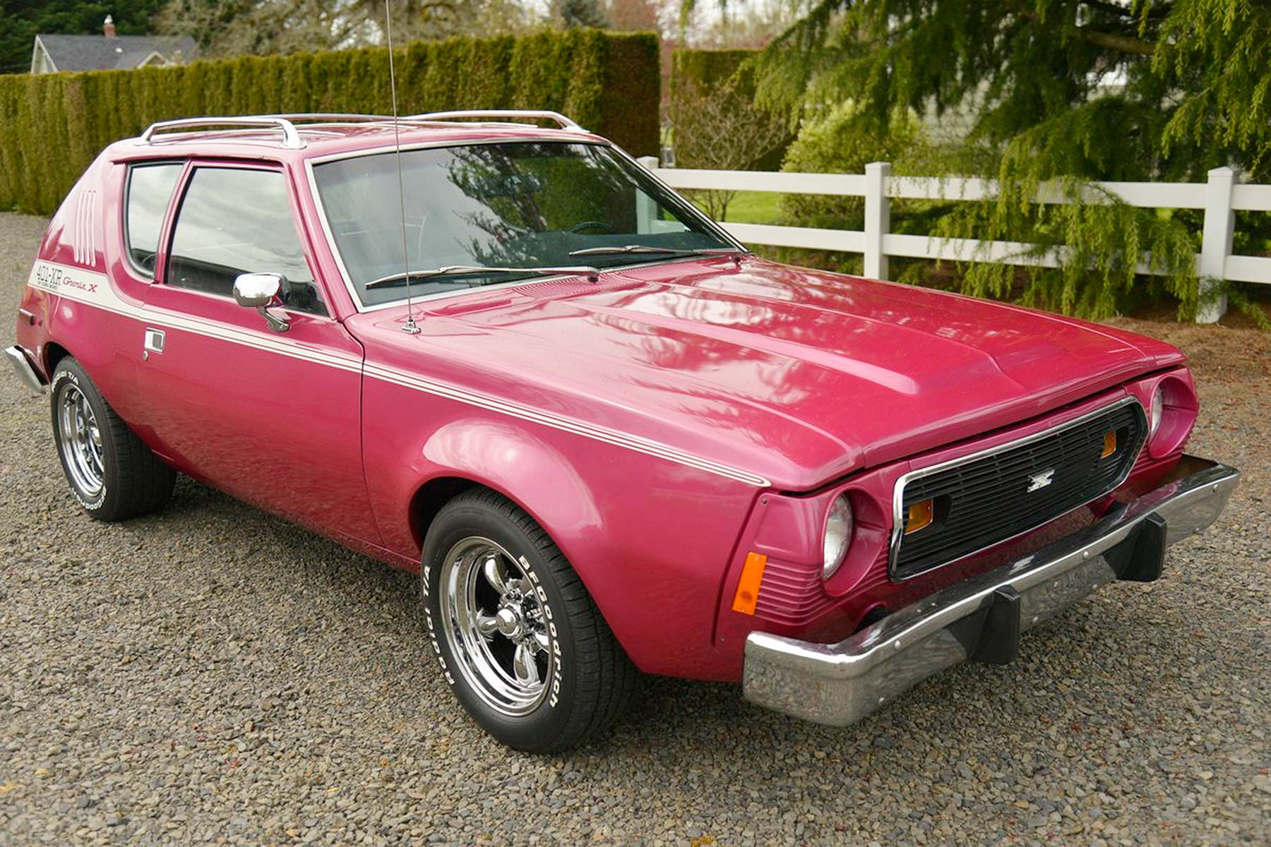 1974 AMC Gremlin 401 XR front three quarter