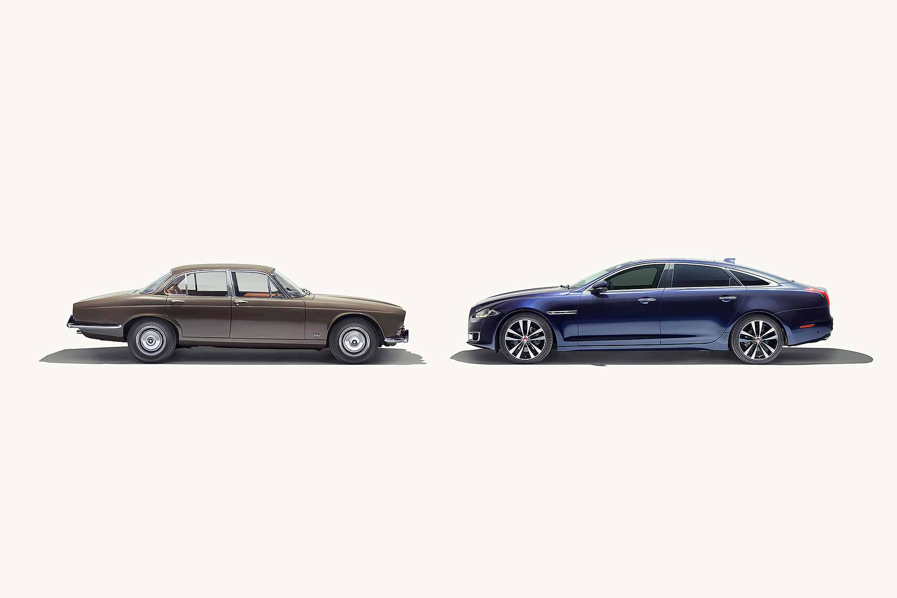 Jaguar XJ 50 years head-to-head