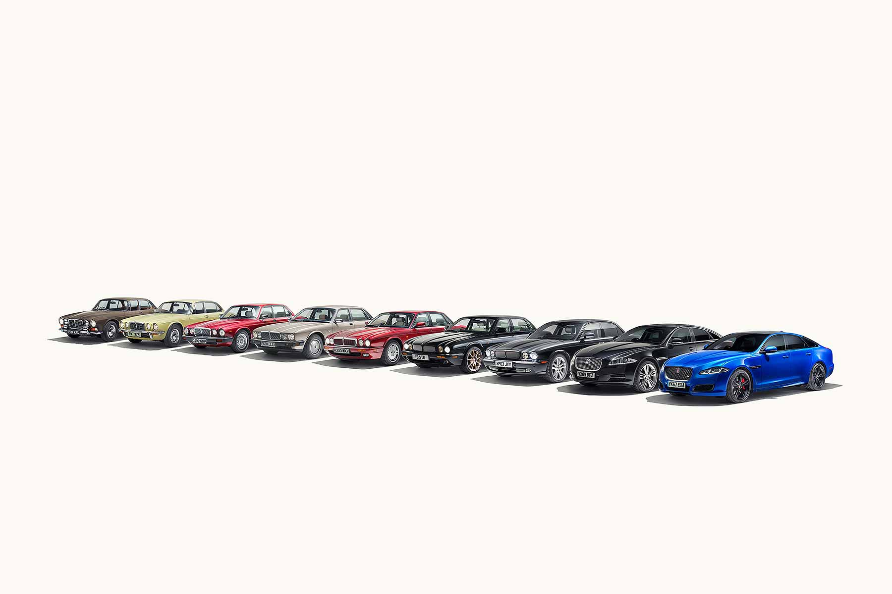 Jaguar XJ 50 years line-up