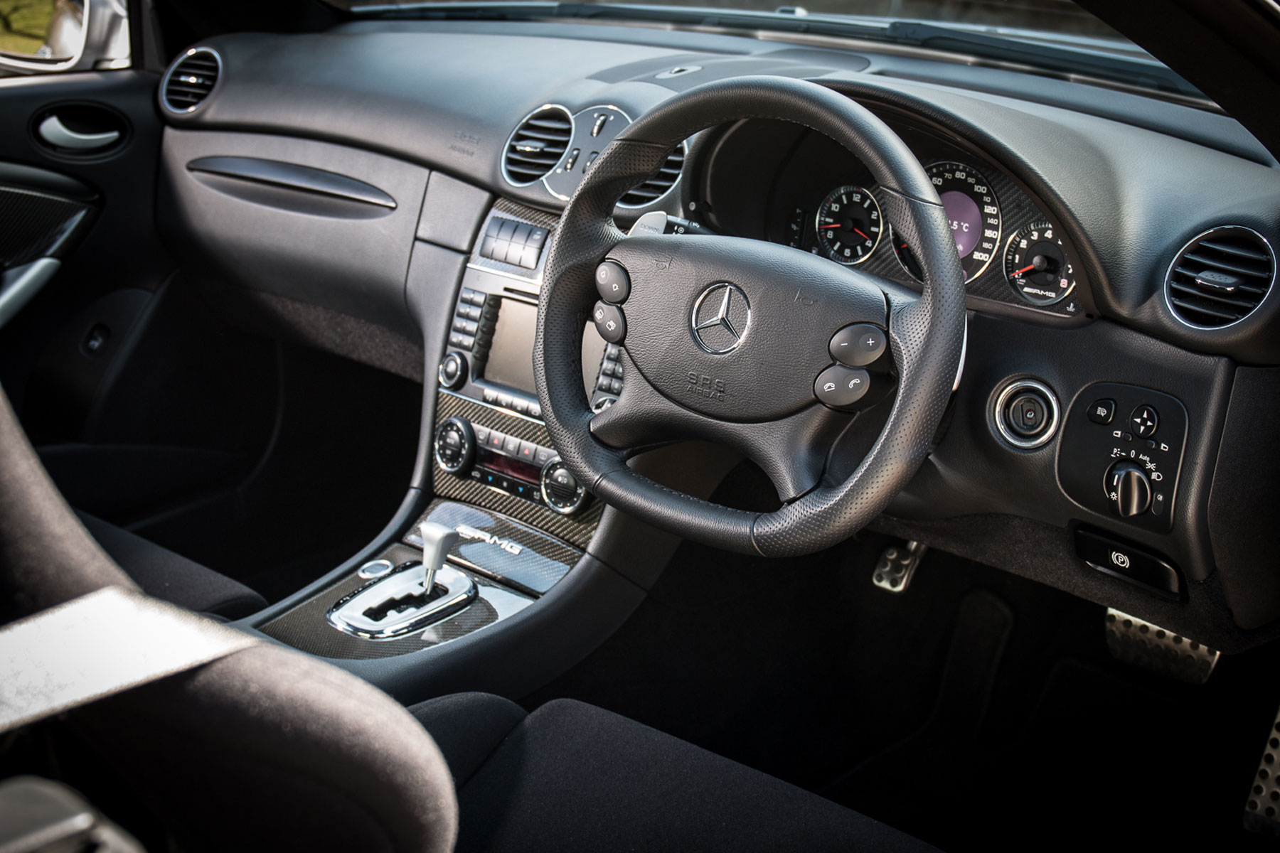 Mercedes-Benz CLK63 AMG Black interior