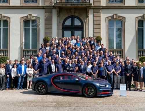 The 100th Bugatti Chiron leaves Molsheim