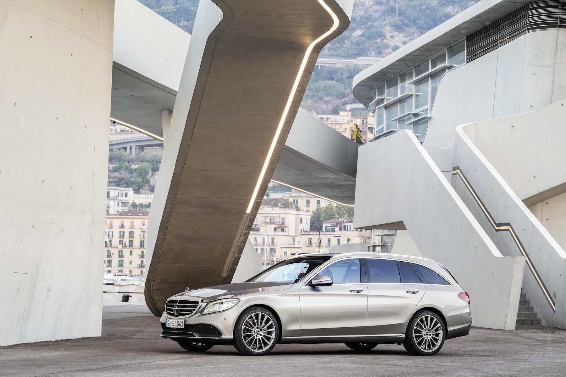 Facelifted 2018 Mercedes Benz C Class