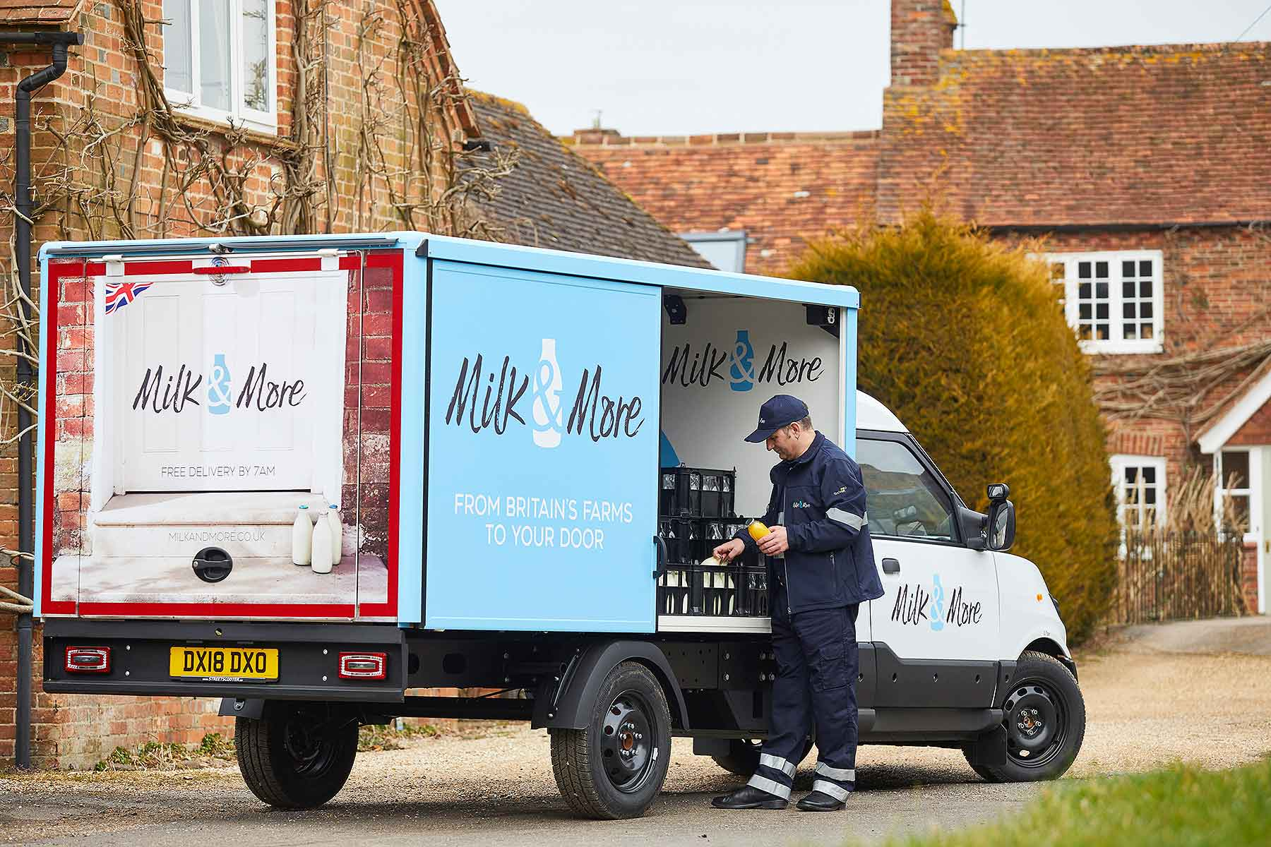 Milk&More StreetScooter electric milk float