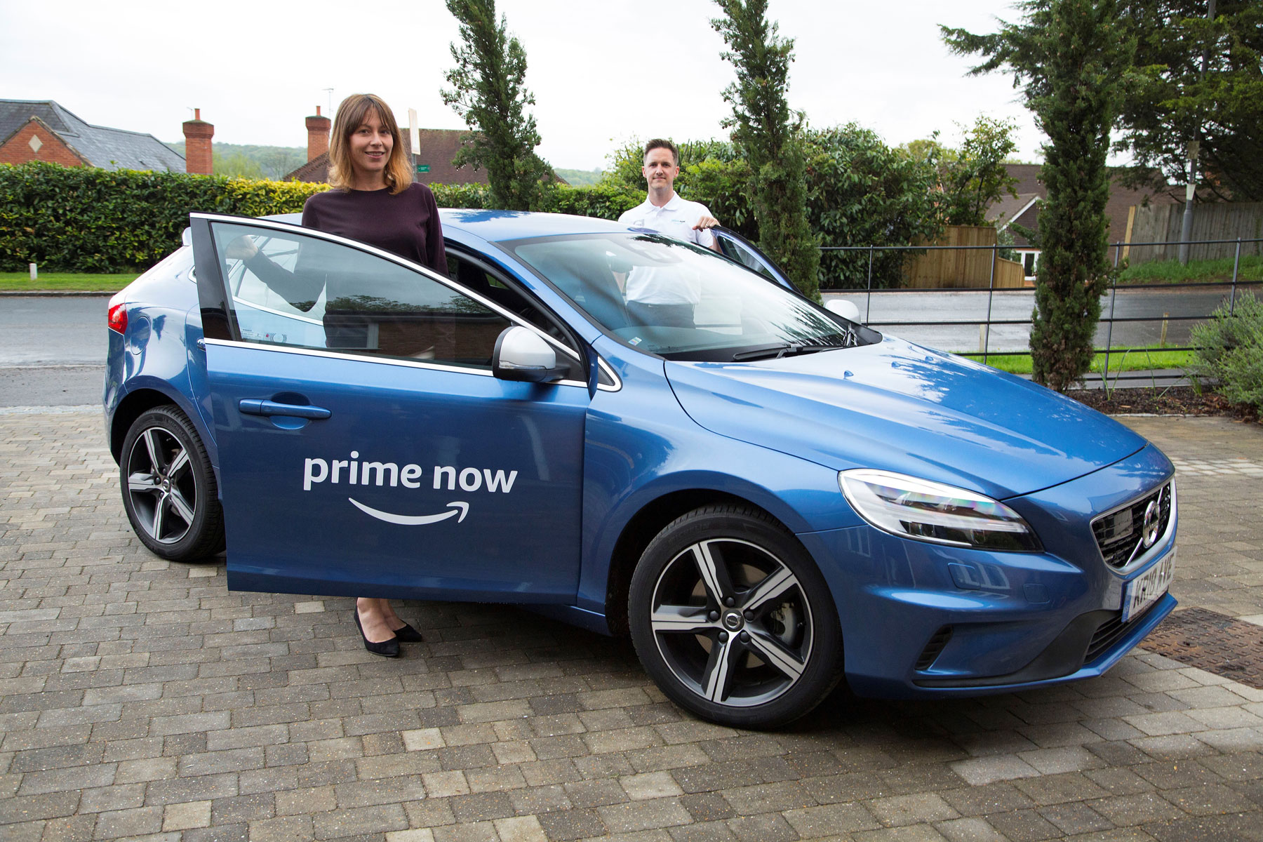 Volvo Amazon Prime Now test drives