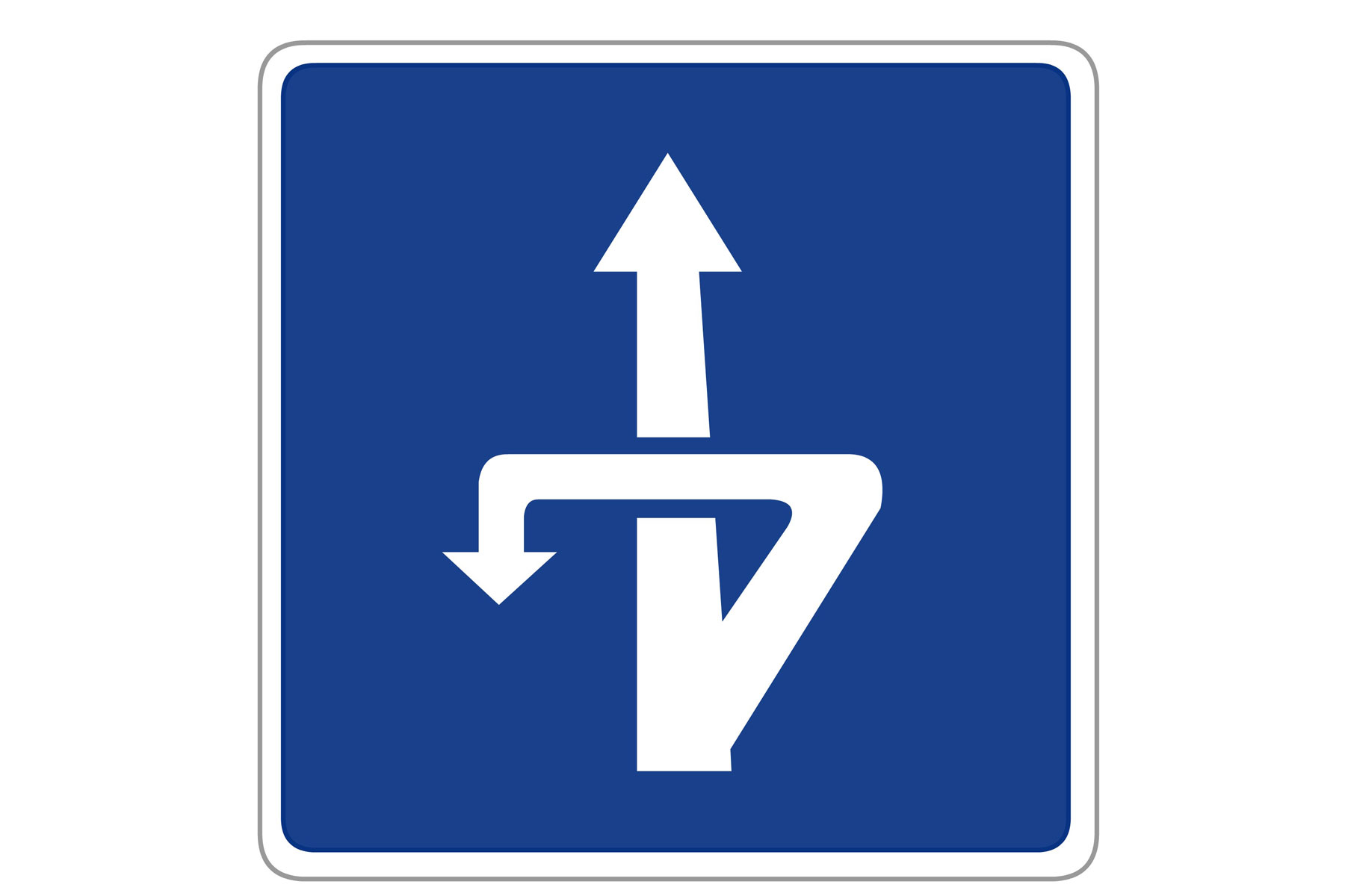Indirect left turn Spain