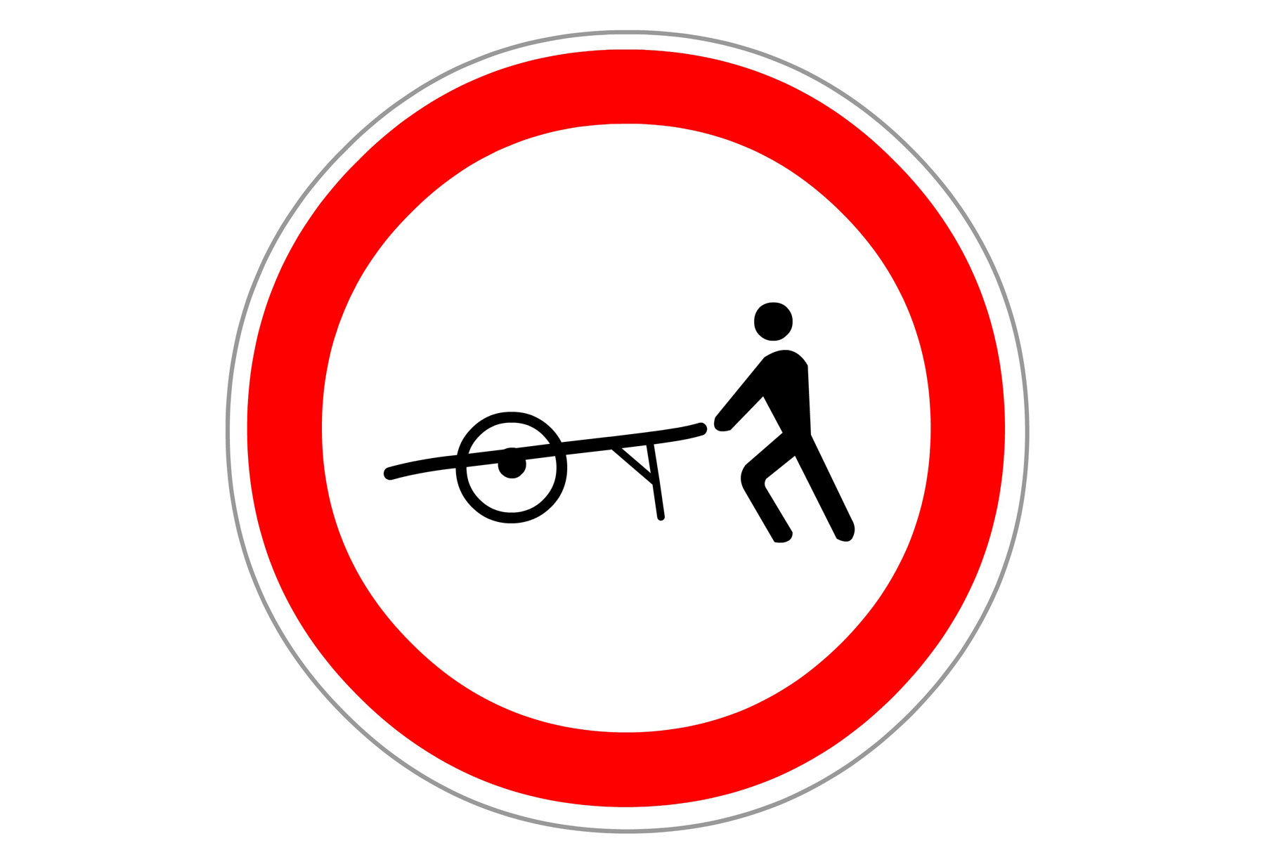 No handcarts or wheelbarrows France