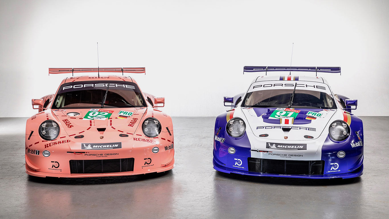 classic colours for porsche racers at le mans 24 hours motoring research. Black Bedroom Furniture Sets. Home Design Ideas