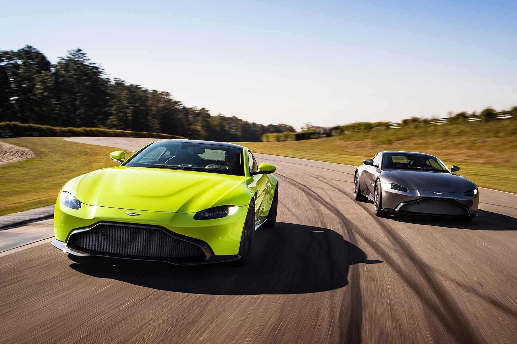 2018 Aston Martin Vantage on track