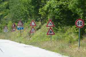 European road signs