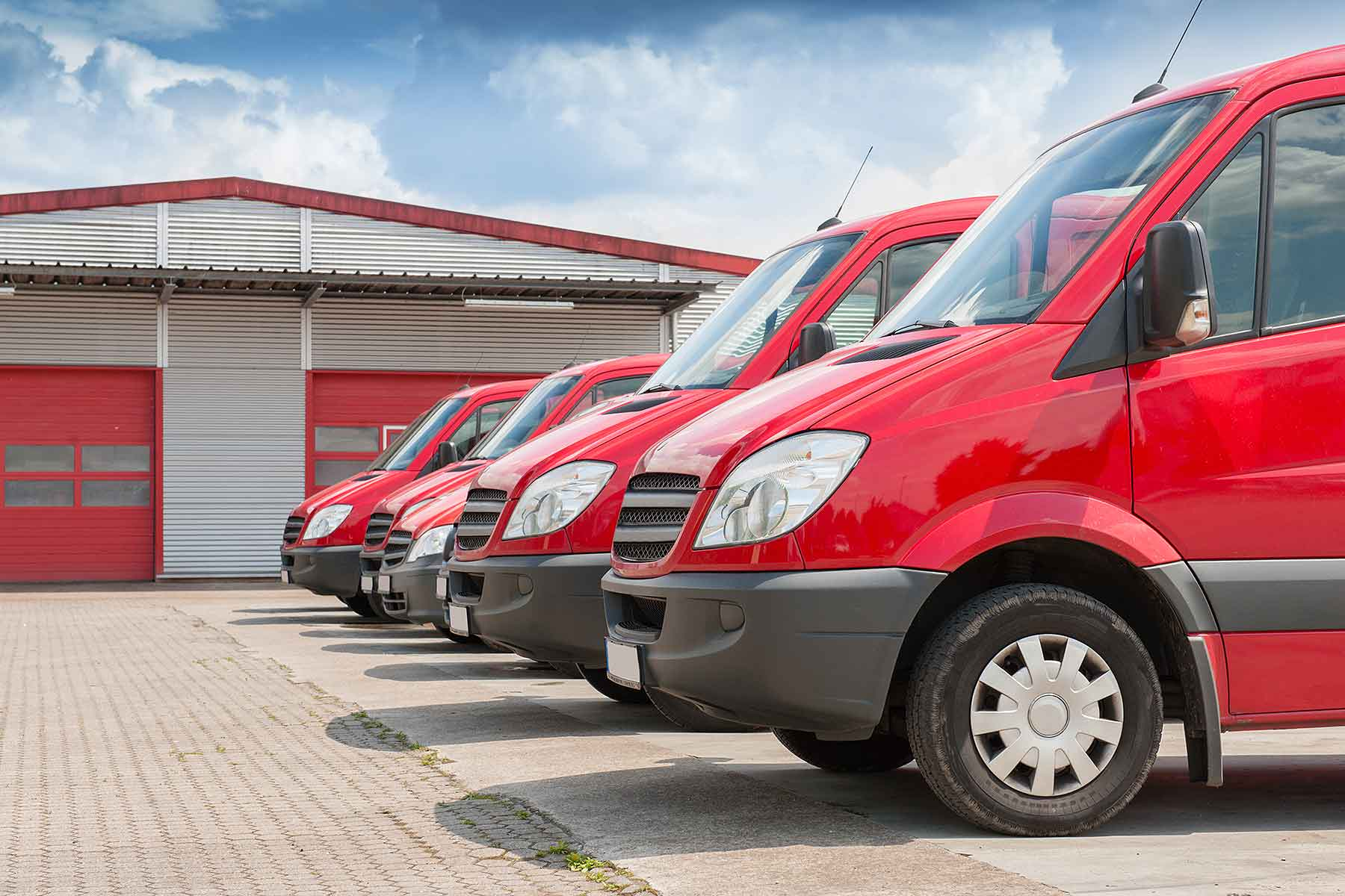 Car park of vans