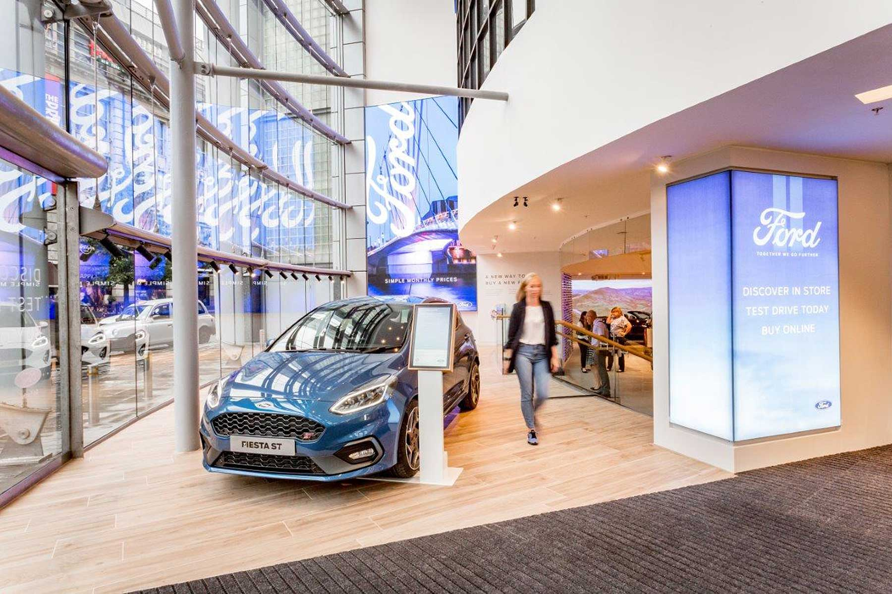 Ford has introduced the new buy online service to coincide with the opening of its first retail experience fordstore this is set within the new next