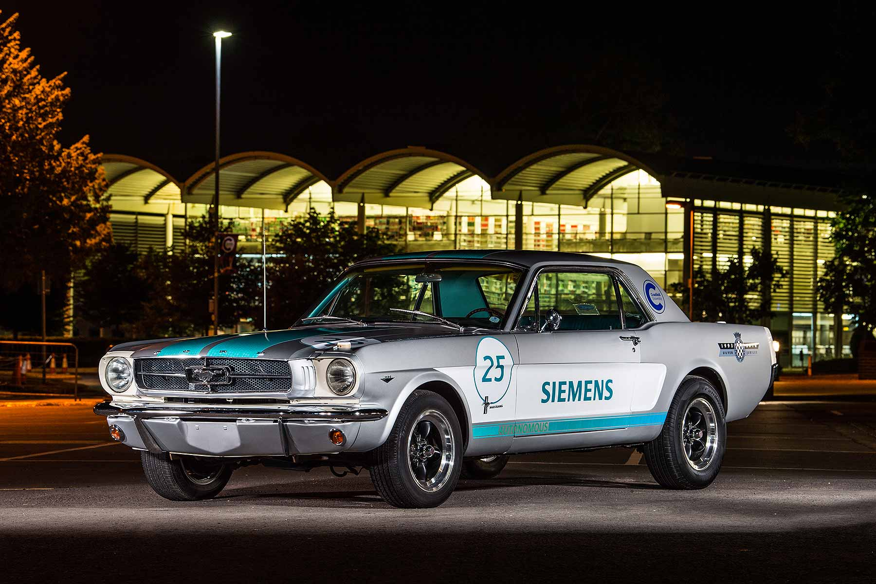 Retro ford mustang will run goodwoods first autonomous hillclimb