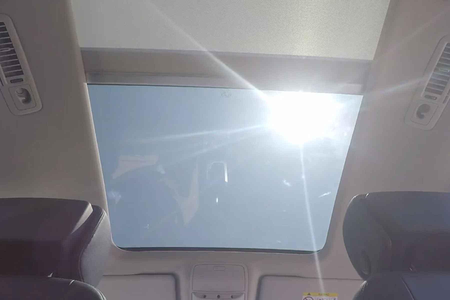 Hot car interior warning
