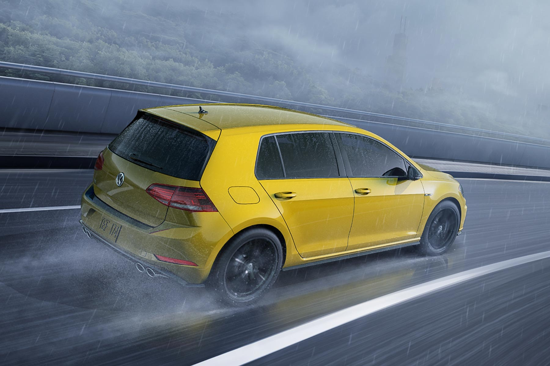 2019 VW Golf R Ginster Yellow