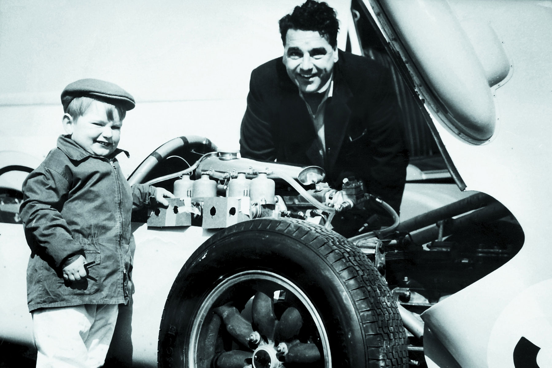 John Cooper with son Mike