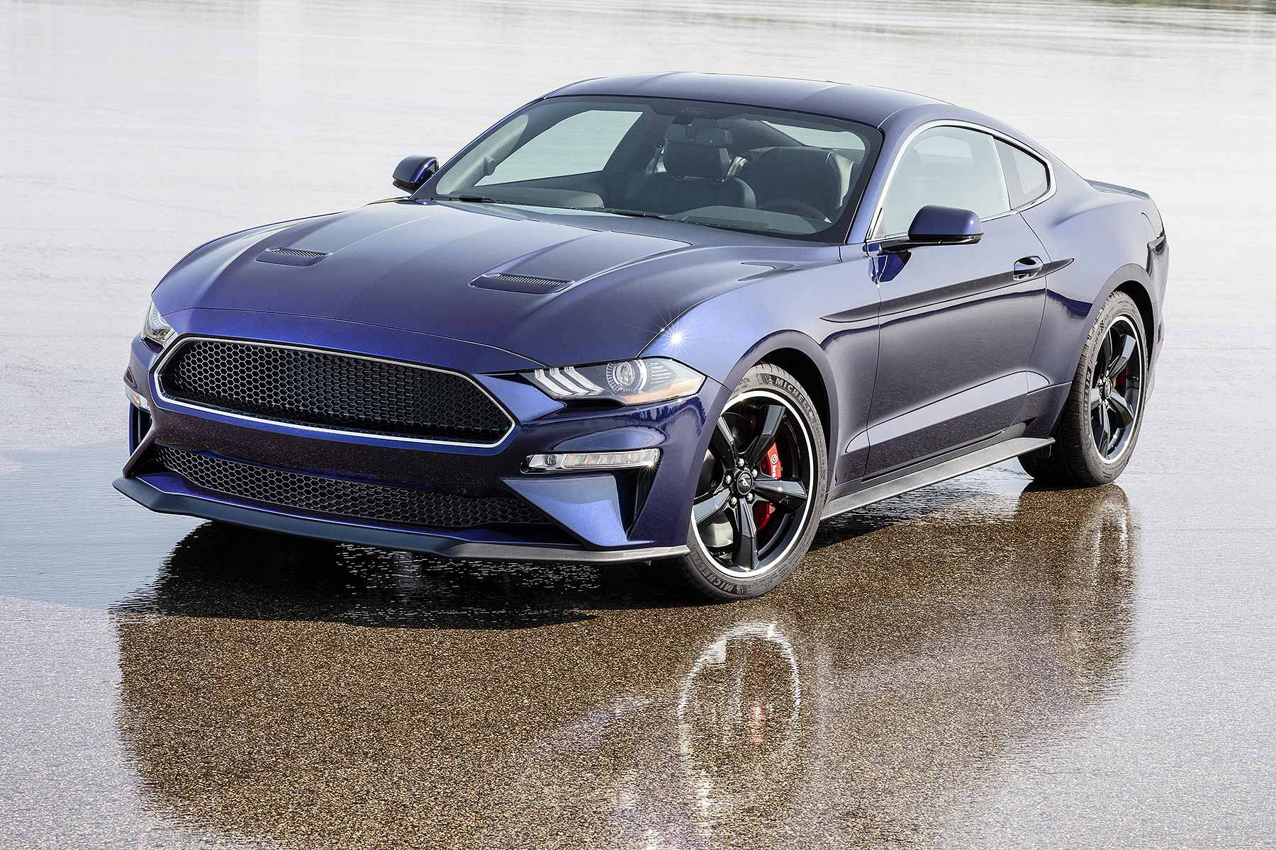 Ford is raffling the worlds only blue mustang bullitt for charity