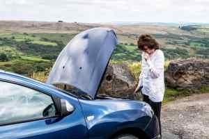 Car breakdown rural