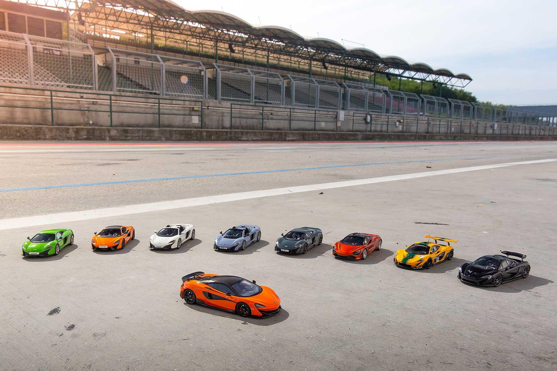 McLaren scale model cars