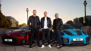 Andrew Flintoff and Paddy McGuinness join the Top Gear team alongside Chris Harris