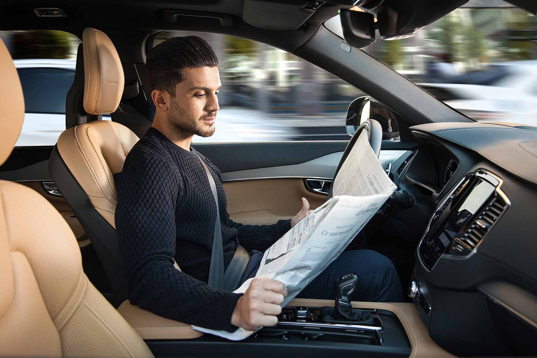 Volvo autonomous driving demonstration