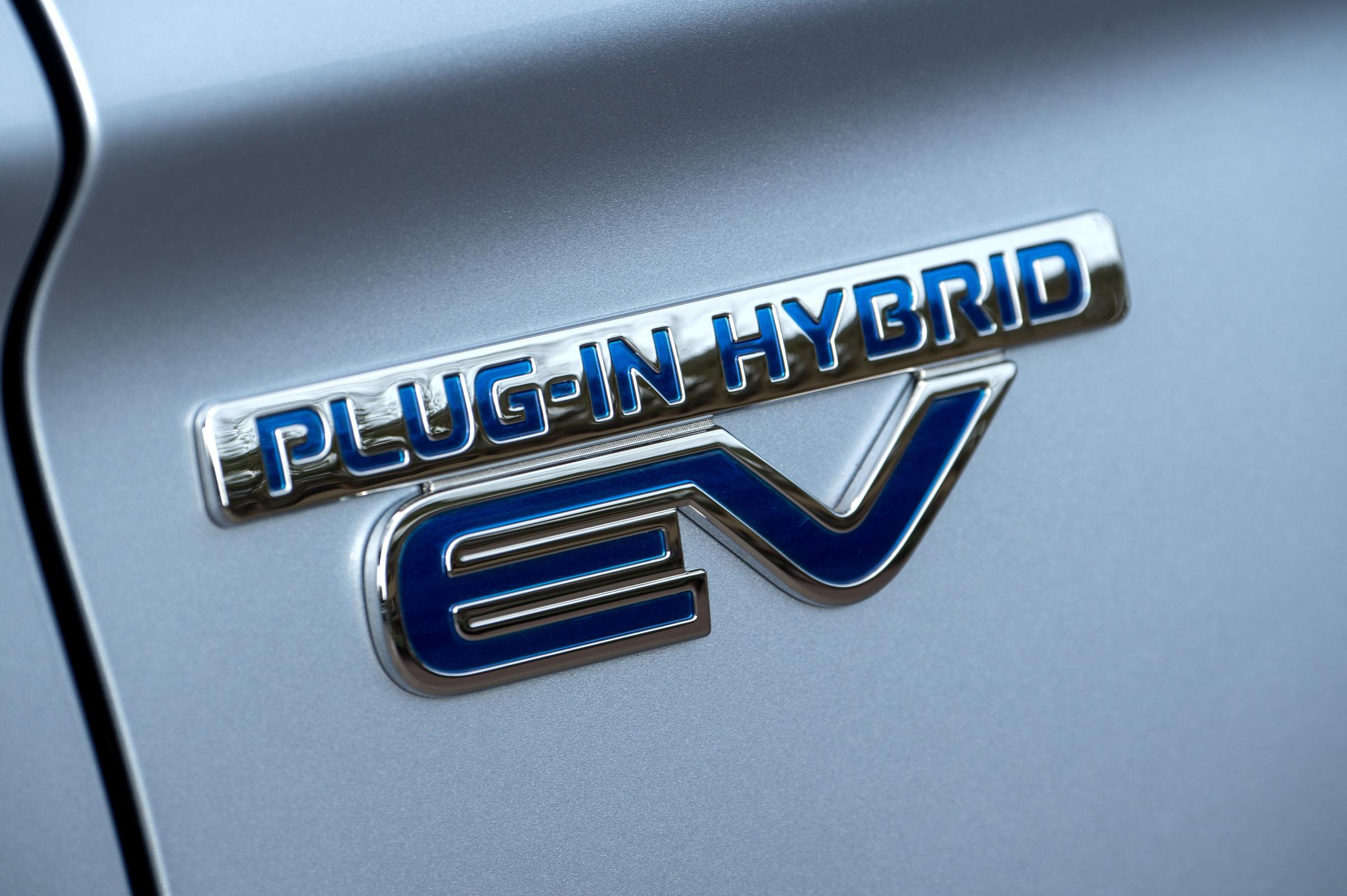 Mitsubishi Outlander PHEV plug-in hybrid badge