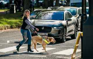 Jaguar I-Pace AVAS and Guide Dogs for the Blind