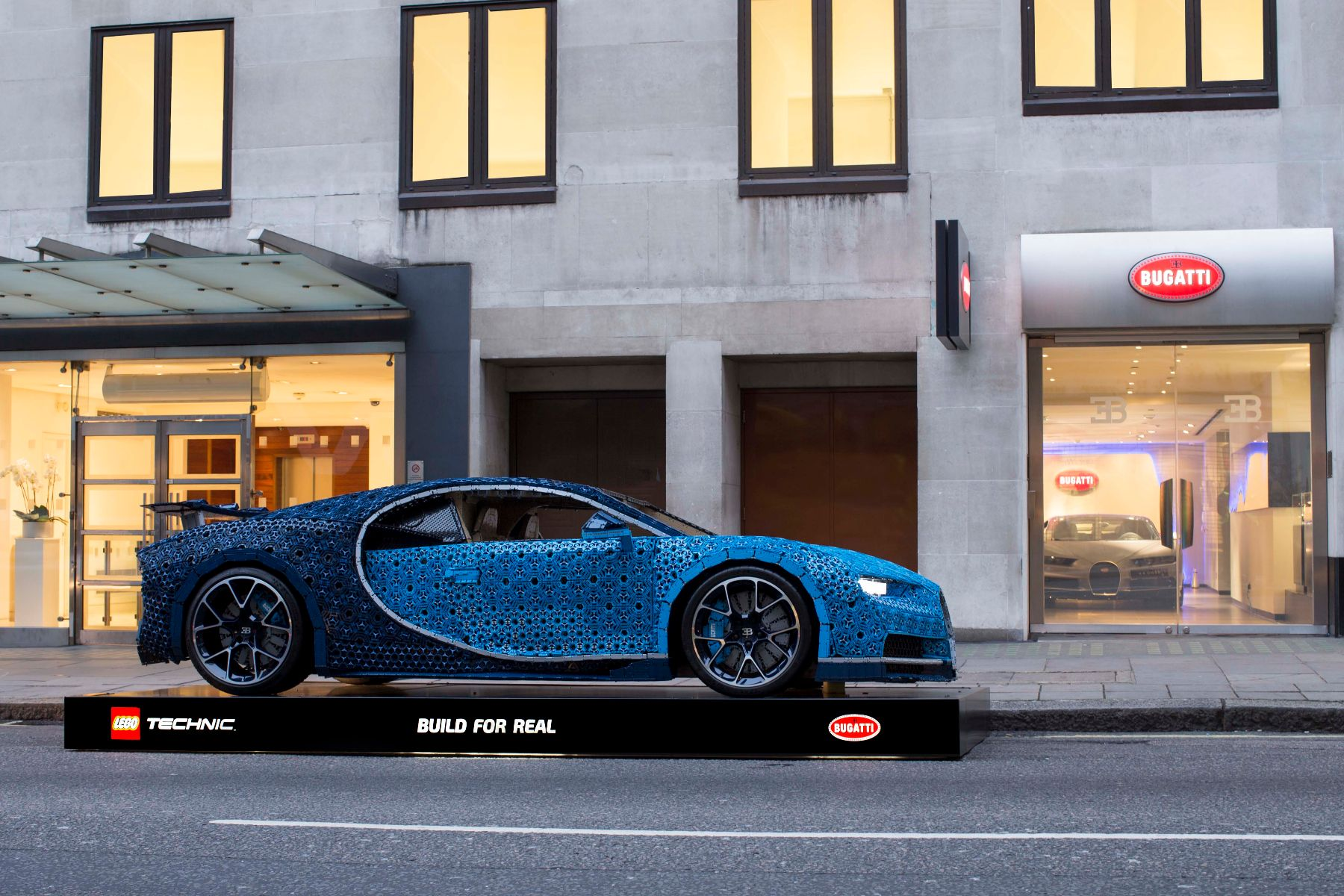 You Could Catch A Life Size Lego Bugatti At London Ping Centre