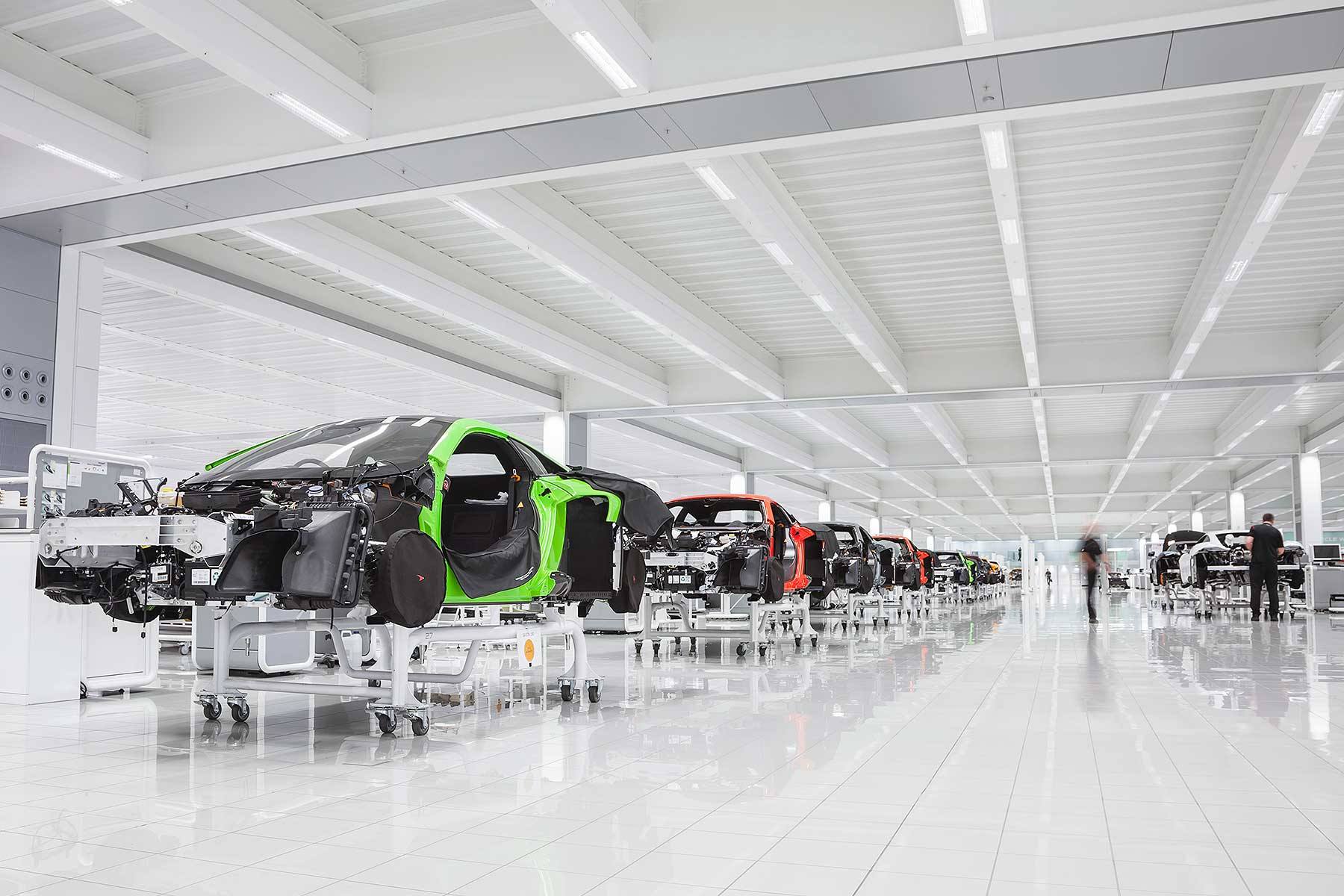McLaren Production Centre production line