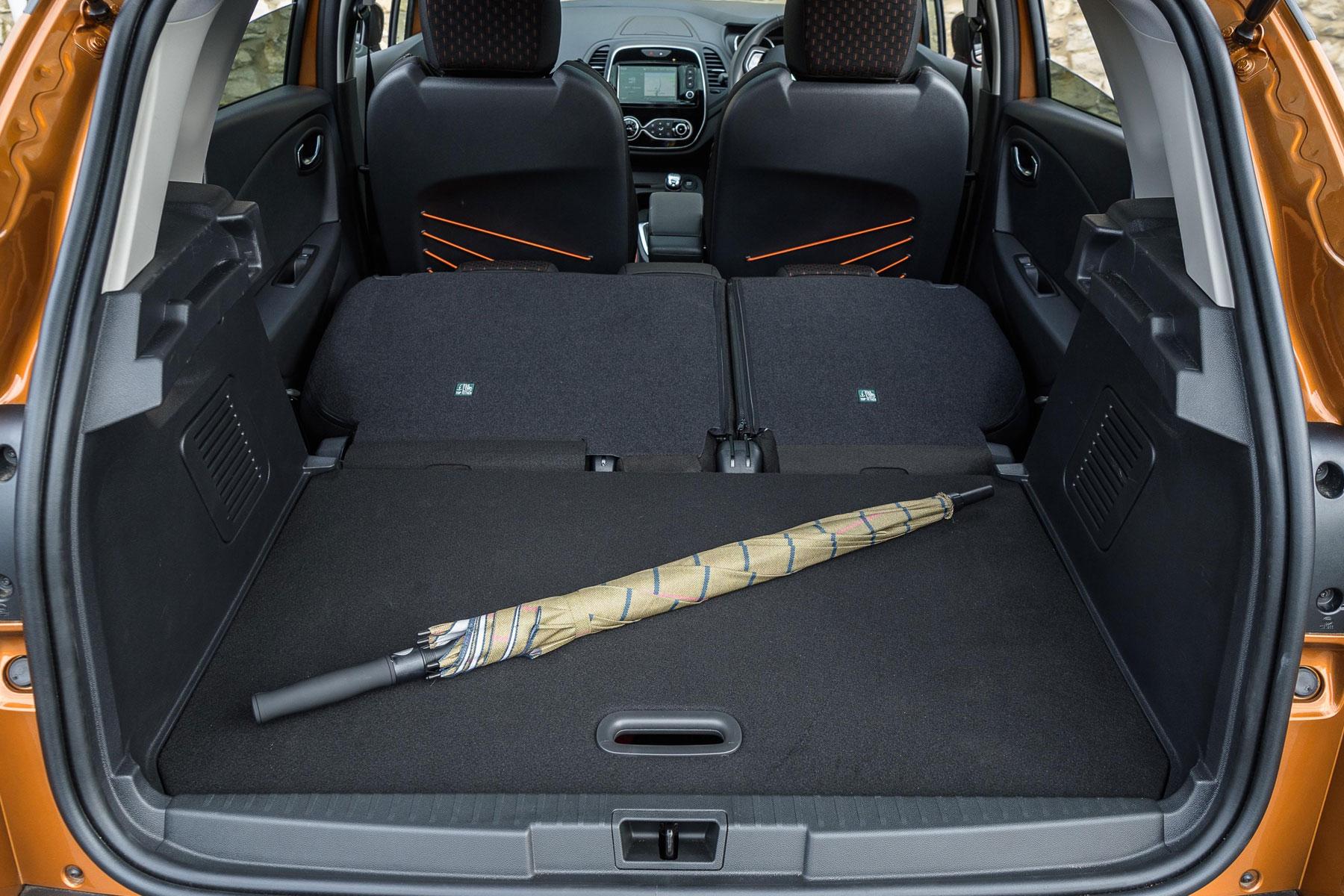 New Renault Captur boot space