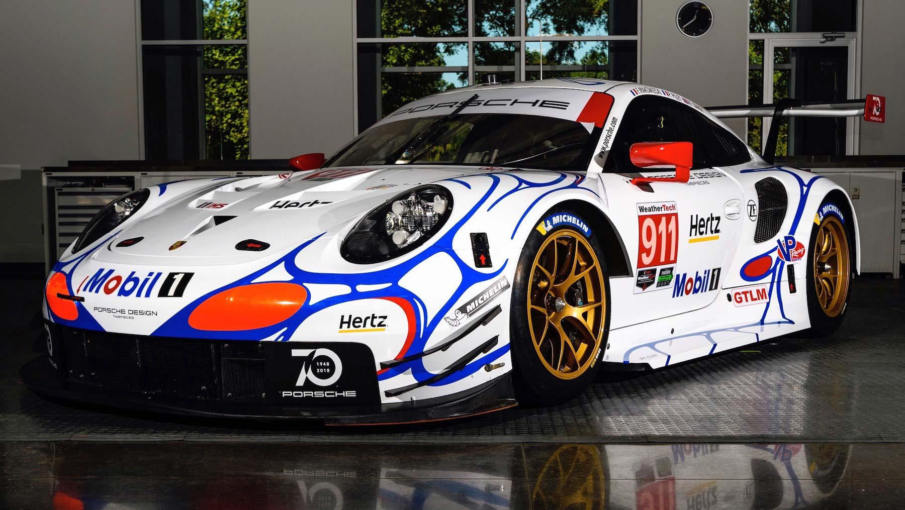 Retro livery Porsche 911 RSR racers 2018 Petit Le Mans