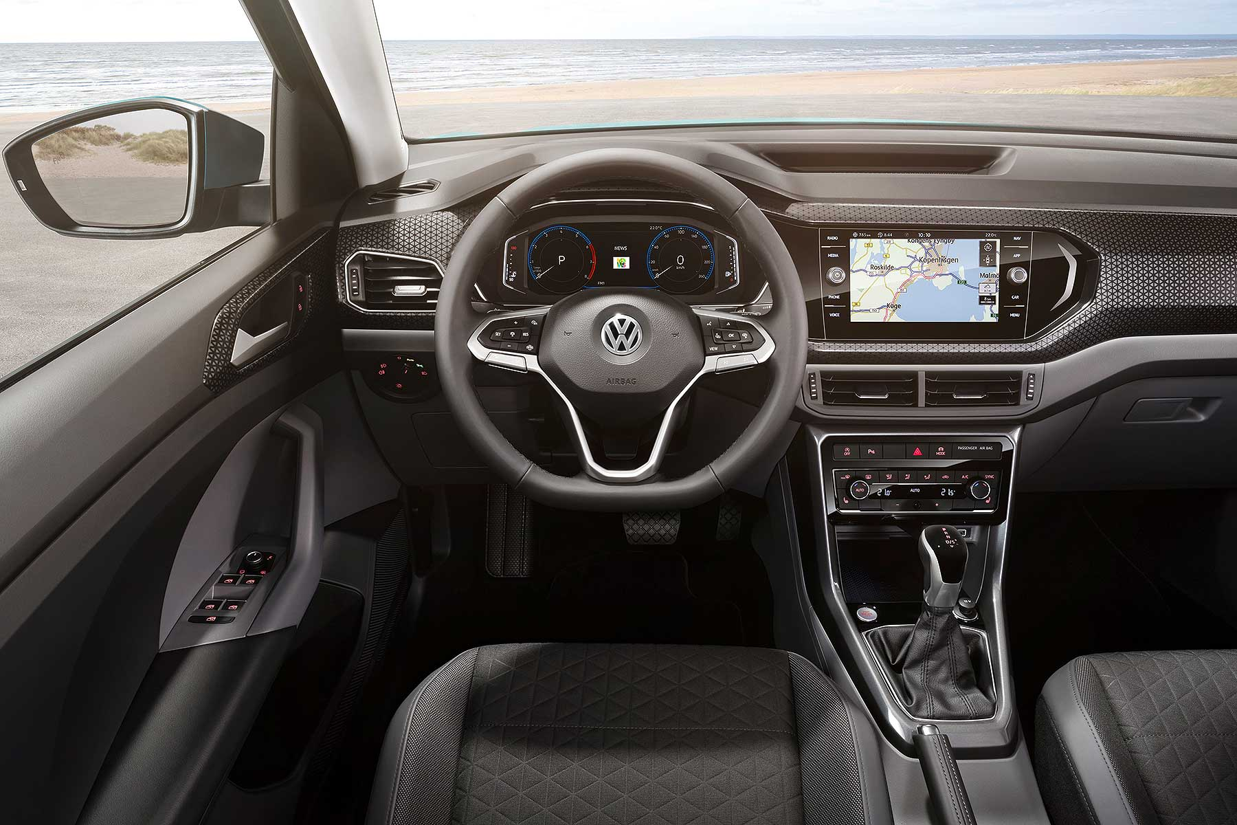 new volkswagen t cross is a baby suv with big ambitions. Black Bedroom Furniture Sets. Home Design Ideas