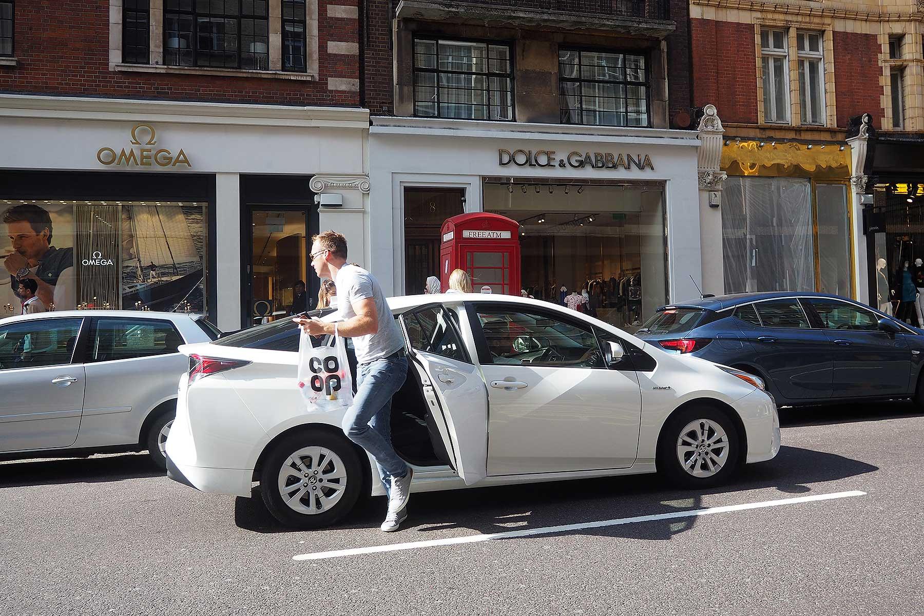 Uber rider in London