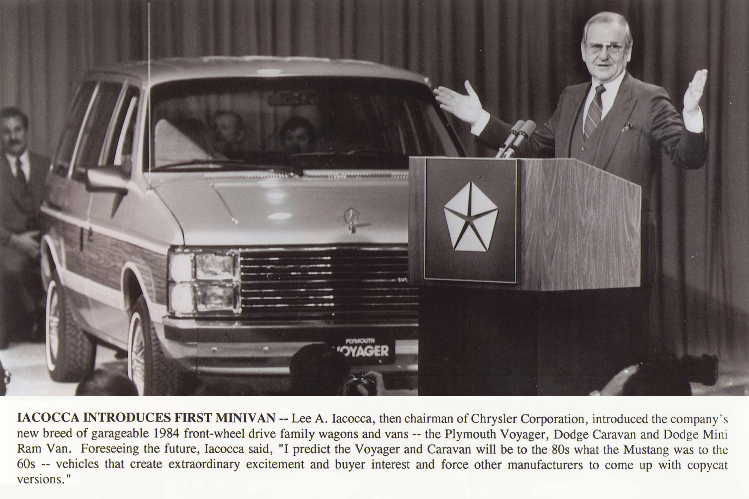 The first Chrysler minivan and Lee Iacocca