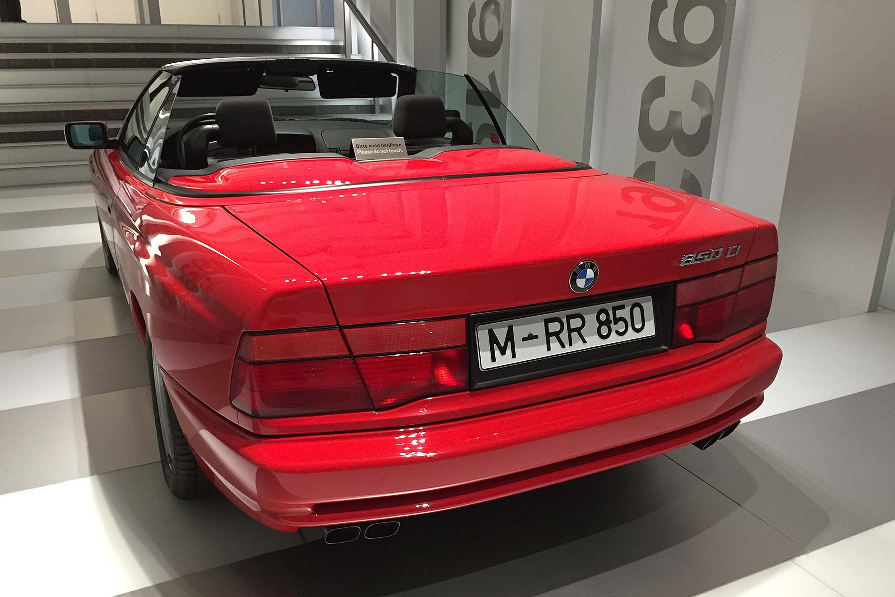 e31 bmw 850i convertible prototype from the early 1990s. Black Bedroom Furniture Sets. Home Design Ideas