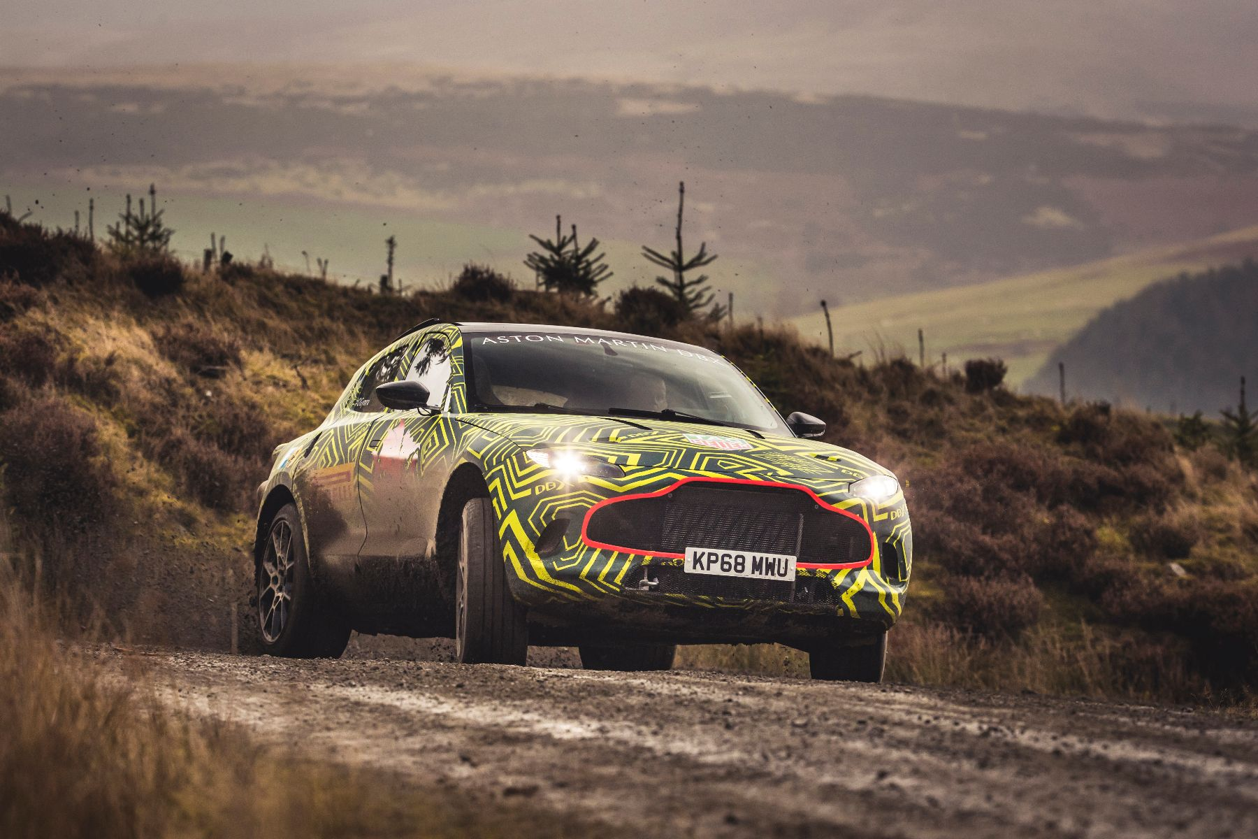 Super SUV revealed first photos of 2019 Aston Martin DBX
