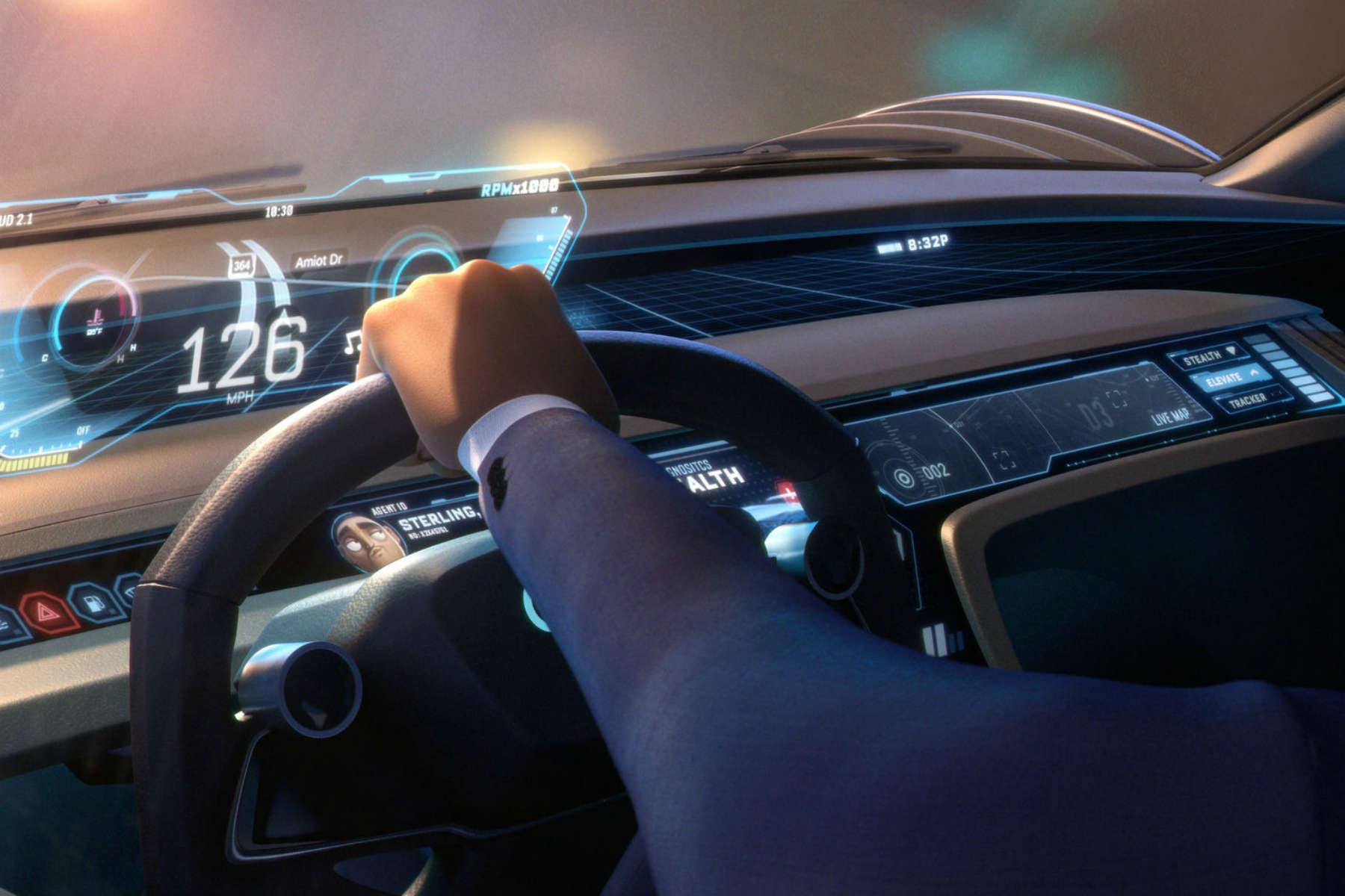 Audi RSQ E-tron dashboard