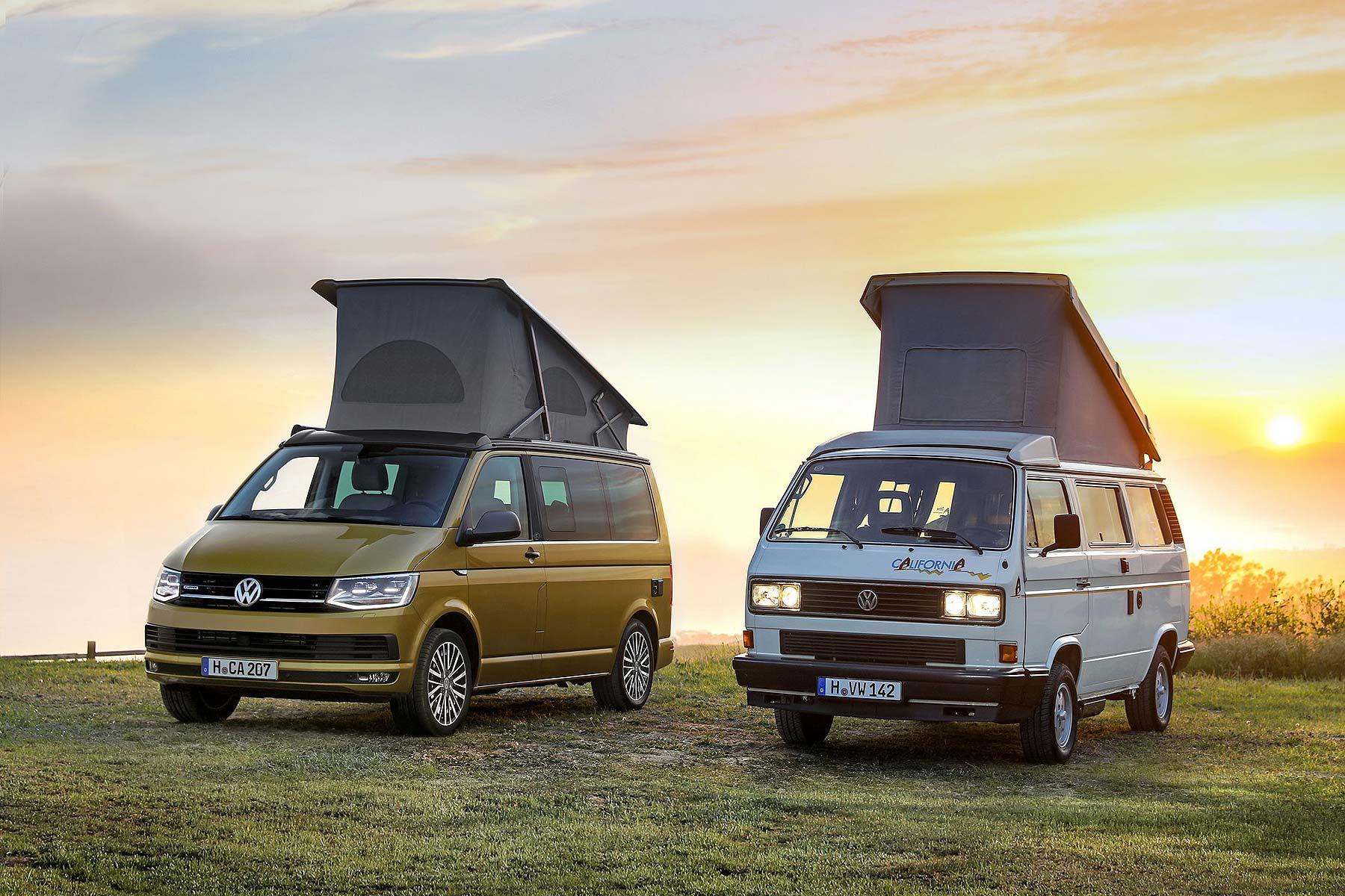 Volkswagen California: 2018 and 1988