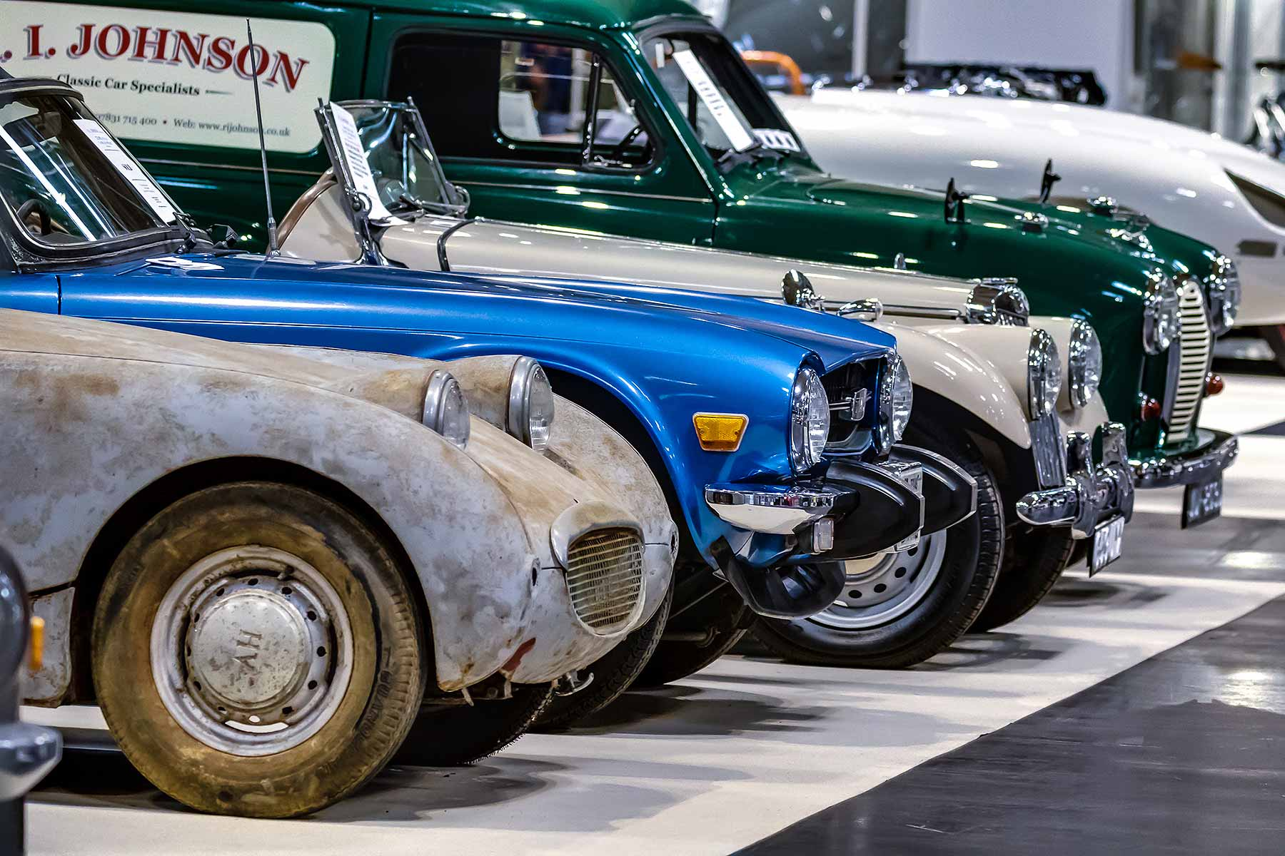 Classic cars at the NEC Classic Motor Show