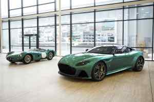 Aston Martin DBS Superleggera 'Q by Aston Martin Commission' alongside the 1959 original