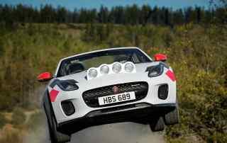 Jaguar F-Type rally car special