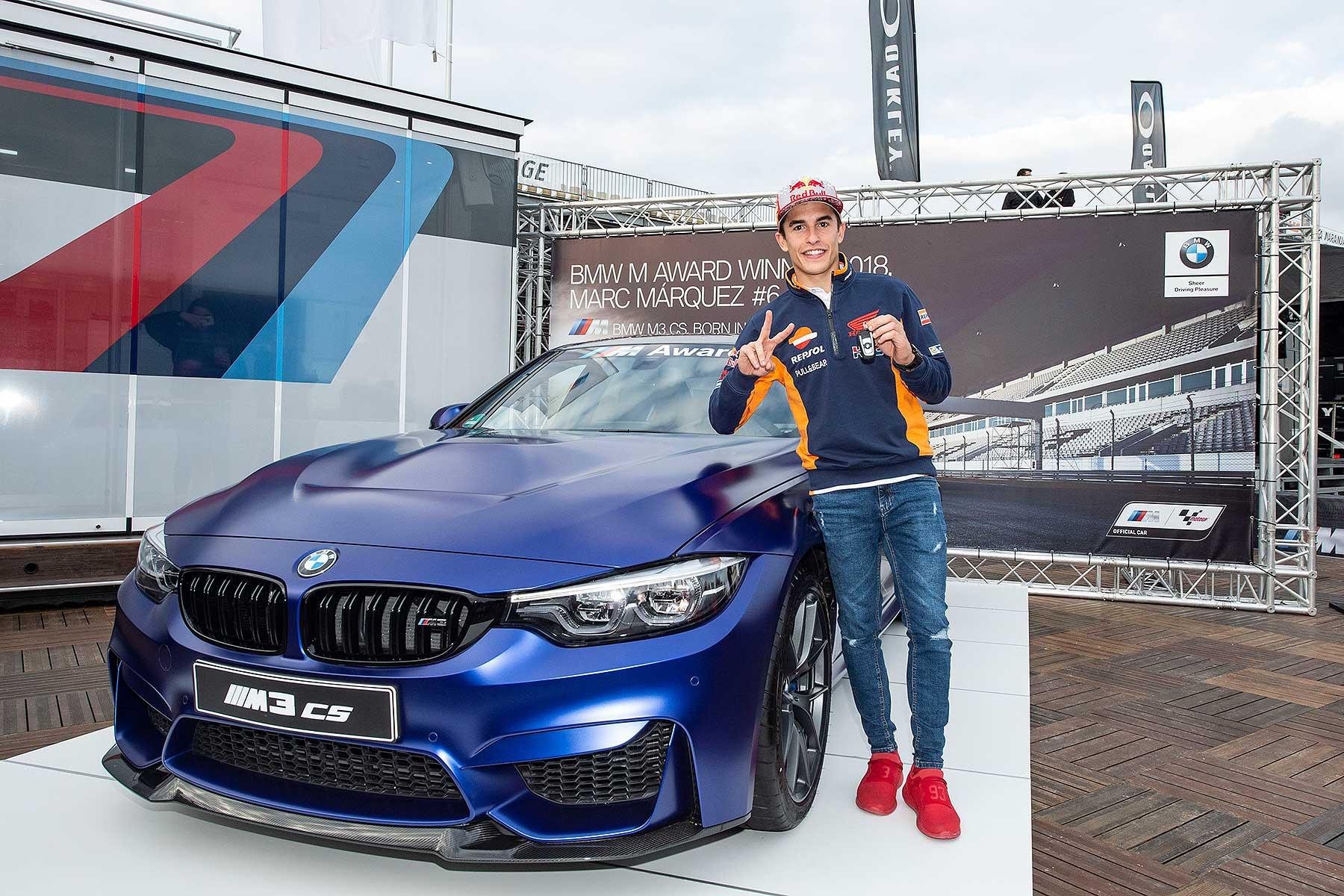 MotoGP's Marc Marquez wins a BMW M3 CS
