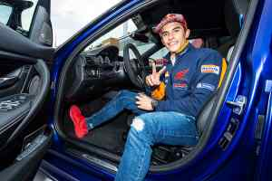 MotoGP's Marc Marquez and his new BMW M3 CS