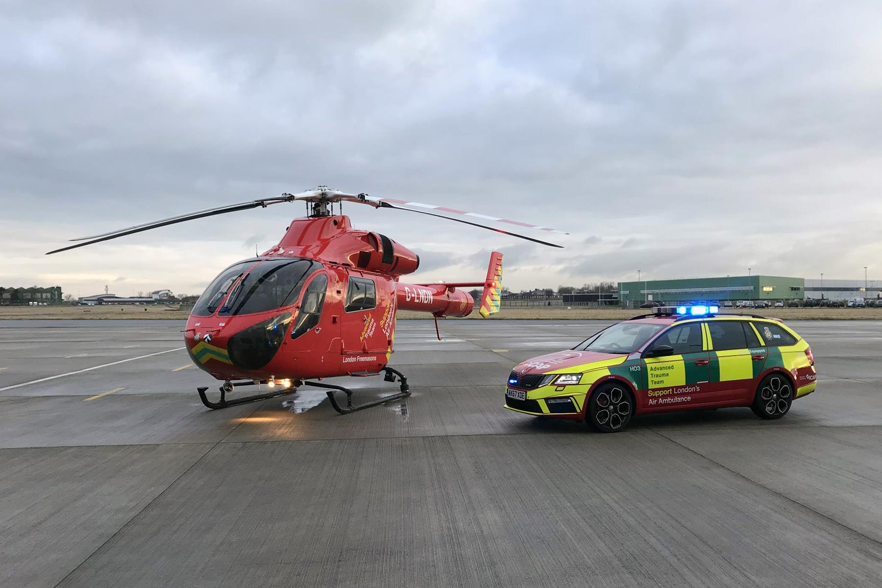 Skoda helps London's Air Ambulance charity save lives