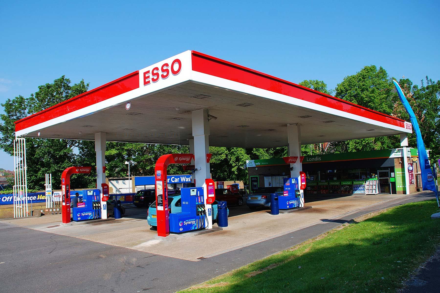 Esso fuel filling station